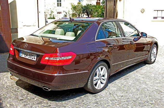 2012 Mercedes-Benz E350 rear 3/4 view