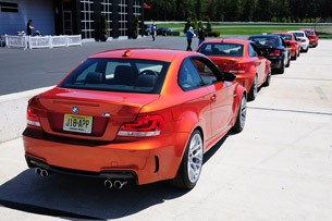 2011 BMW 1 Series M Coupe rear 3/4 view