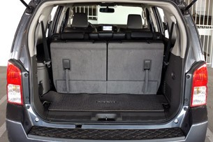 2011 Nissan Pathfinder rear cargo area