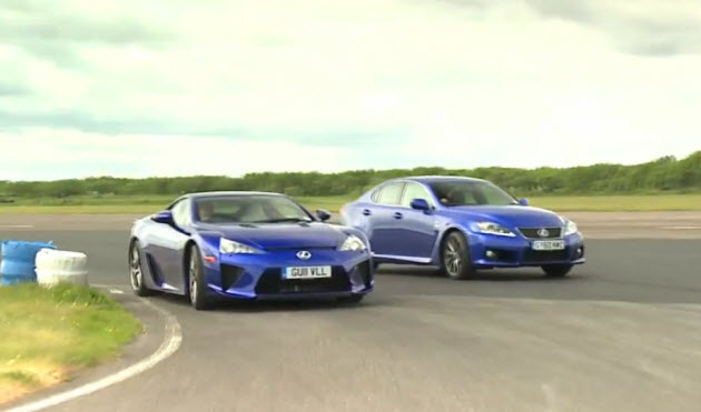 lexus lfa and is-f on track