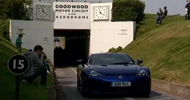 lexus lfa at goodwood motor circuit