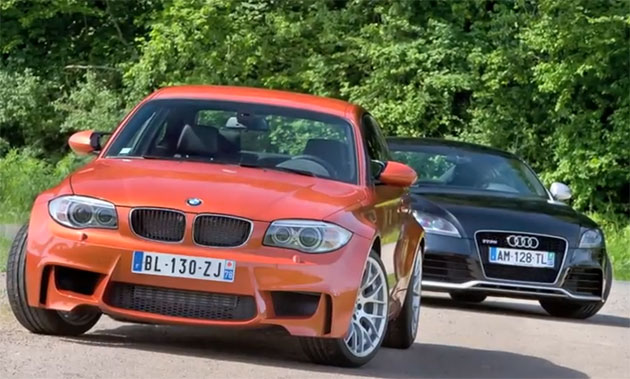 BMW 1 Series M Coupe and Audi TT RS