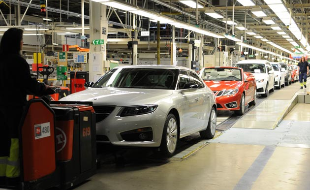 Saab restarts production