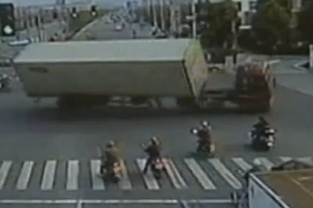 chinese truck driver rolls vehicle