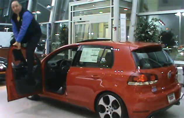 Dealer abusing a Volkswagen Golf GTI