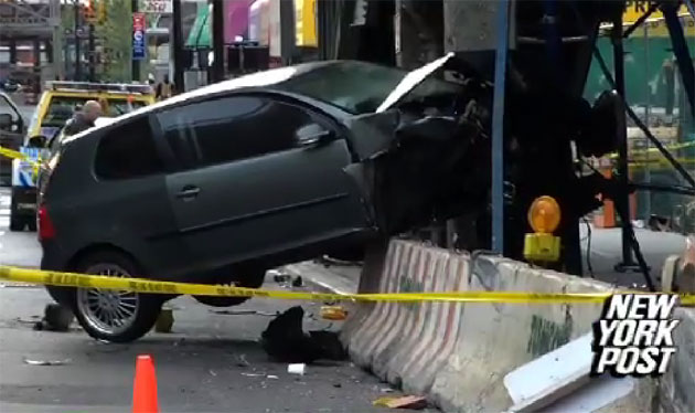 Volkswagen Golf crash at the queensboro bridge