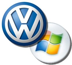 volkswagen and microsoft logos