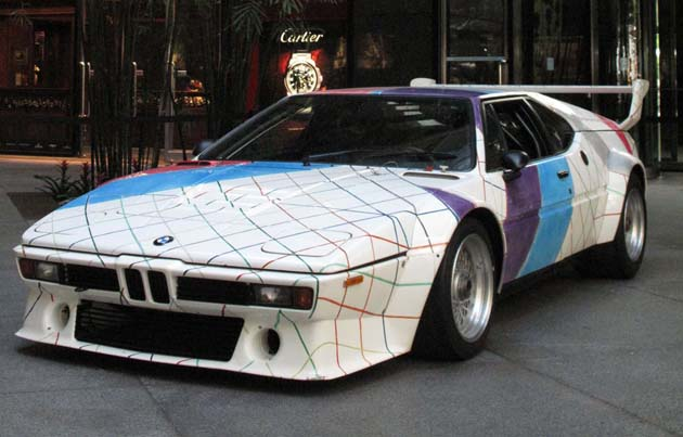 BMW M1 art car by Frank Stella