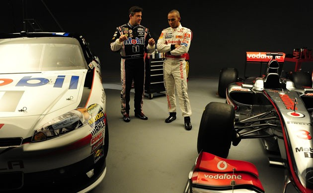 Tony Stewart and Lewis Hamilton
