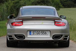 2012 Porsche 911 Turbo S Edition 918 Spyder rear view