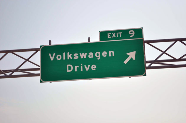 Volkswagen Drive sign