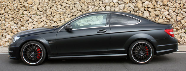 2012 Mercedes-Benz C63 AMG Coupe side view