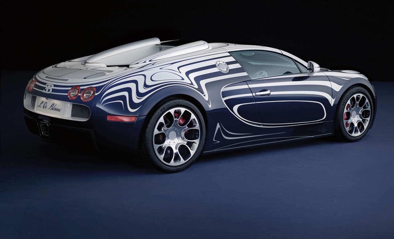 bugatti unwraps one of a kind porcelain trimmed veyron l. Black Bedroom Furniture Sets. Home Design Ideas
