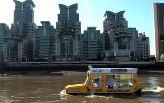 Amphibious Ice Cream Truck on the Thames