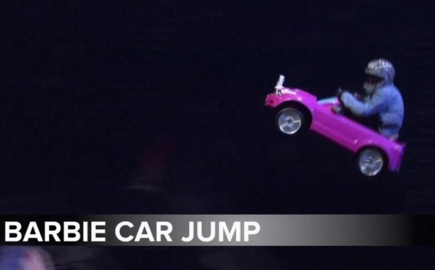Nitro Circuis barbie car jump