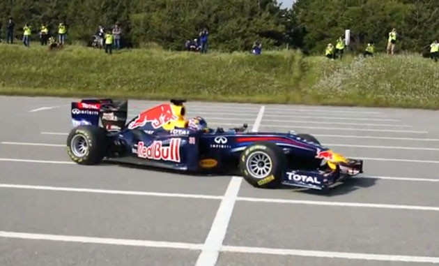 Sebastien Buemi at Red Bull event