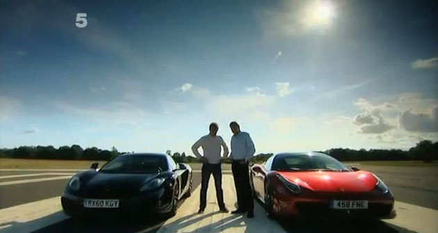 Fifth Gear tests McLaren MP4-12c and Ferrari 458 Italia