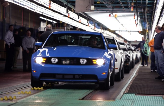ford mustang assembly line at flat rock, michigan plant