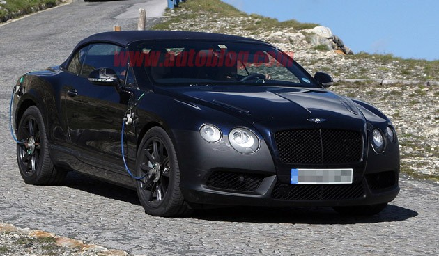 spy shot bentley continental gtc speed