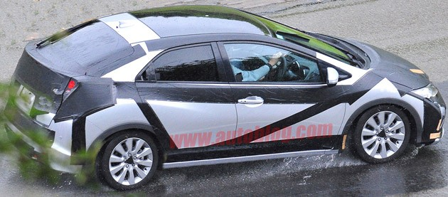 spy photo honda civic five-door hatchback