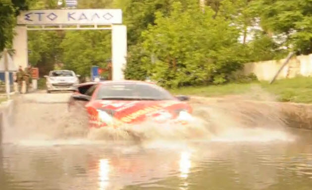 jon olsson's lamborghini murcielago sv fording a border crossing