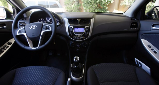 2012 Hyundai Accent Five-Door interior