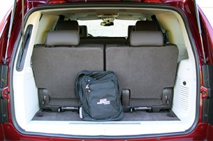 2011 Cadillac Escalade Hybrid Platinum rear cargo area