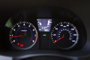 2012 Hyundai Accent Five-Door gauges