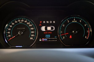 2012 Jaguar XKR-S gauges