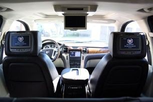 2011 Cadillac Escalade Hybrid Platinum rear seats