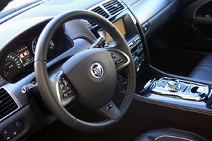 2012 Jaguar XKR-S steering wheel