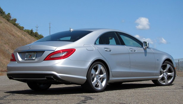 2012 Mercedes-Benz CLS550 rear 3/4 view