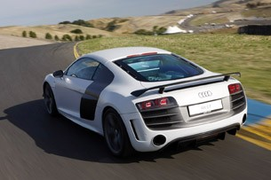 2012 Audi R8 GT driving