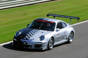 2011 Porsche 911 GT3 Cup on track