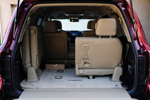 2012 Toyota Land Cruiser rear cargo area