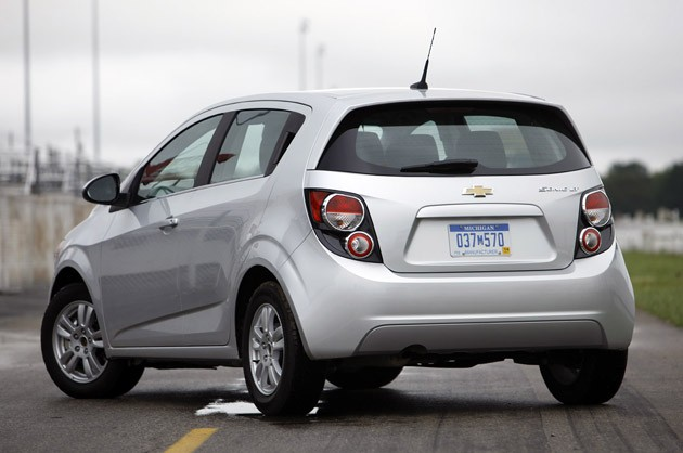 2012 Chevrolet Sonic rear 3/4 view
