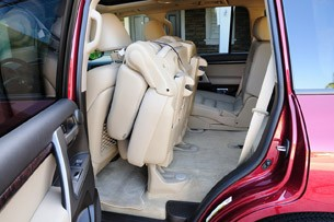 2011 Toyota Land Cruiser folded rear seat