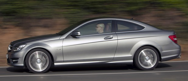 2012 Mercedes C-Class Coupe driving