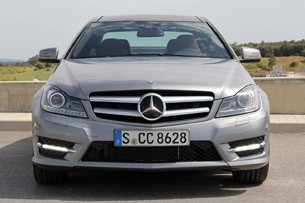 2012 Mercedes C-Class Coupe front view