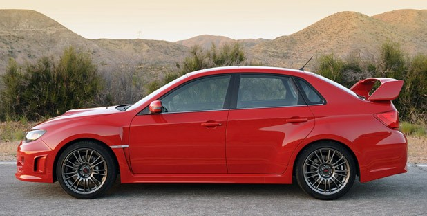 2011 Subaru Impreza WRX STI side view