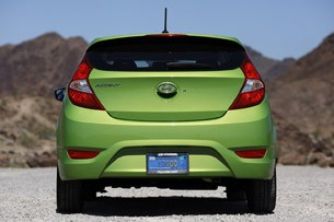 2012 Hyundai Accent Five-Door rear view