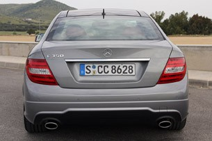 2012 Mercedes C-Class Coupe rear view