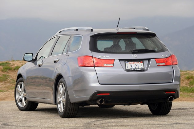 2011 Acura TSX Sport Wagon rear 3/4 view