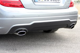 2012 Mercedes C-Class Coupe rear fascia