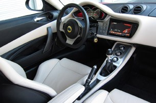2011 Lotus Evora S interior