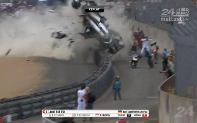 Allan McNish crash