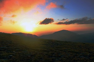 sunset on mt washington
