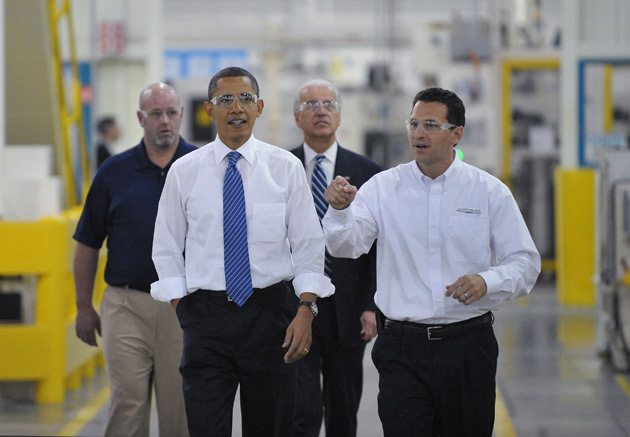 Obama and Biden tour Chrysler plant