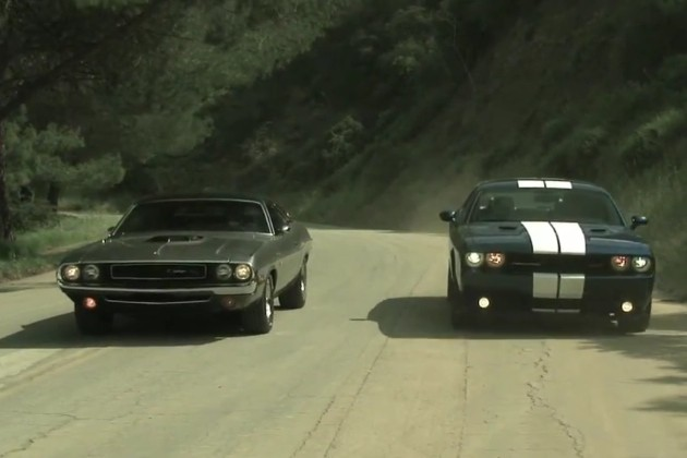 Old muscle car versus new muscle car