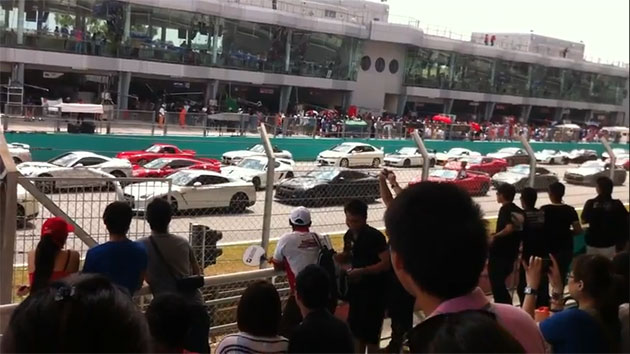 Sepang Super GT parade crash